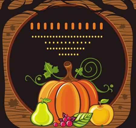 Fall Seasonal Greeting cardwith space for your text 7  Vector