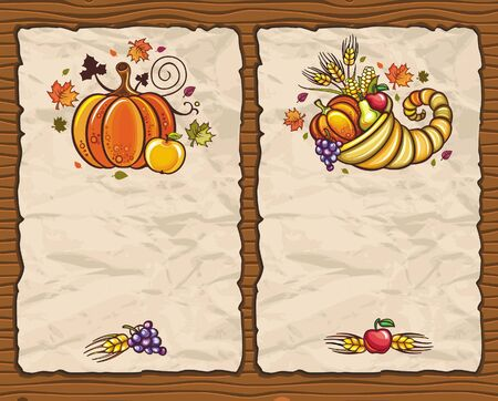 Thanksgiving paper arrangements 4 Vector