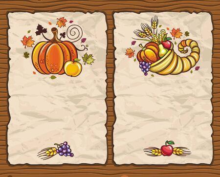 Thanksgiving paper arrangements 4 Vector