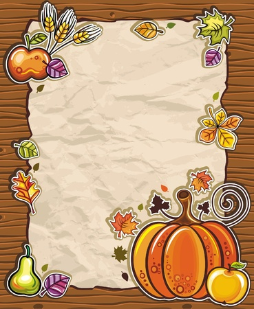 Thanksgiving paper arrangements 3 Vector