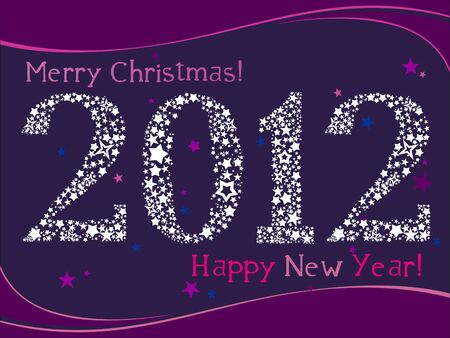 2012 Greeting card  Vector