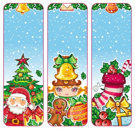 Christmas holiday vertical banners Stock Vector - 11300101