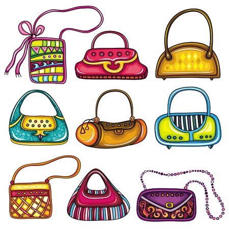 Set of purses Vector