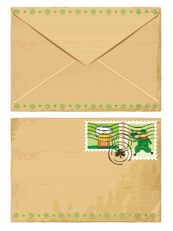 Mail envelope for St. Patrick Vector