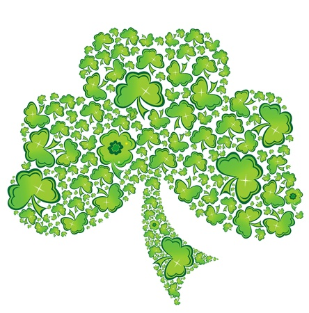 saint patricks: Irish Shamrock Clover Celtic Vector. Illustration