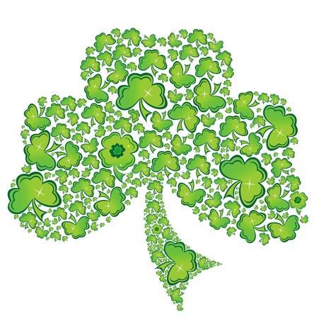 celtico: Irlandese Shamrock Clover celtica Vector.