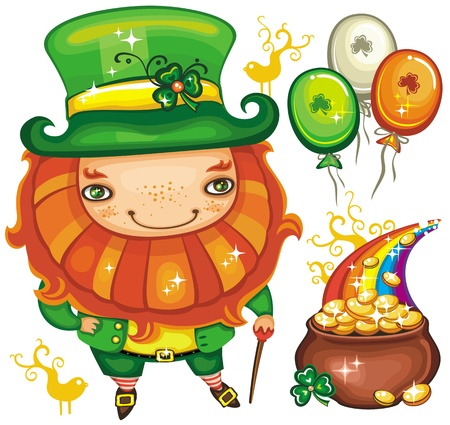 St. Patricks Day set series Vector