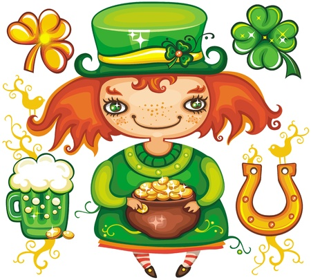 St. Patricks Day  set 3 Stock Vector - 12483750