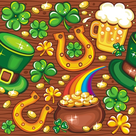 St. Patricks day pattern Vector