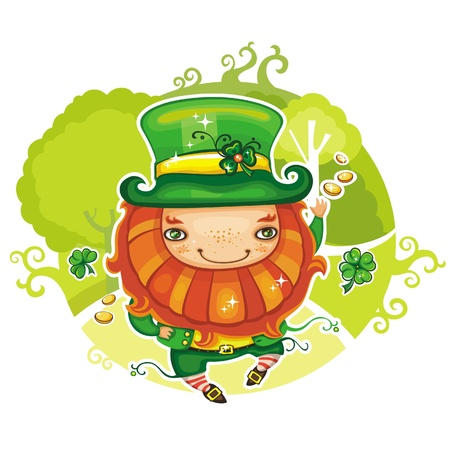 st paddy s day: St. Patricks day leprechaun Illustration