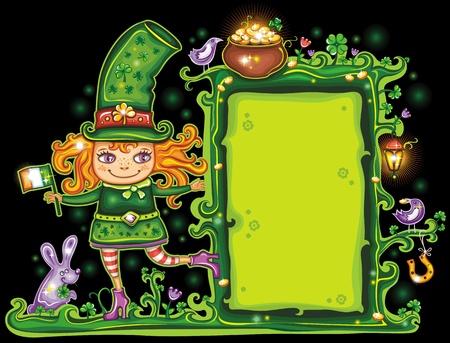 St. Patricks day frame Stock Vector - 12483763