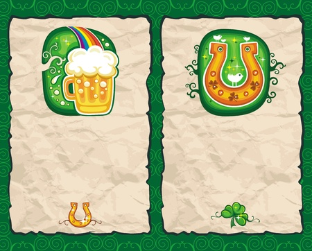 St. Patricks day arramgaments Vector