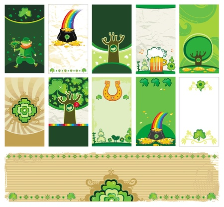 St. Patricks day  banners Stock Vector - 12483756