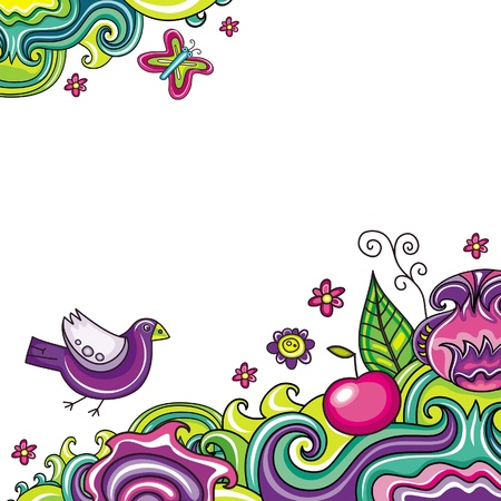 Resumen floral tarjeta de la serie 6