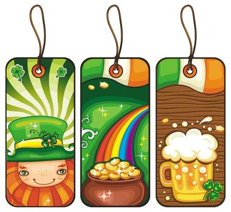 st patrick s day: Cartellini dei prezzi per una parte il giorno del St Patrick s 2