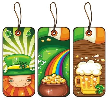 Price tags for the St  Patrick s Day part  2 Vector