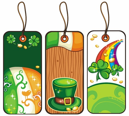 Price tags for the St  Patrick s Day part 1 Vector
