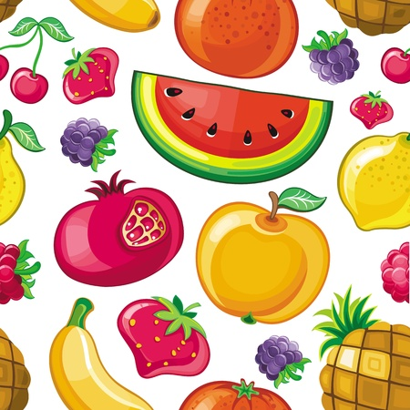 Seamless Juicy fruit texture Vector