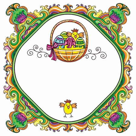 Easter Frame Stock Vector - 12890448