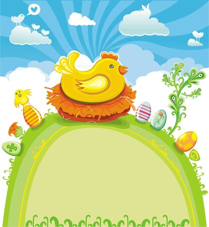 religion  herb: Easter greeting card
