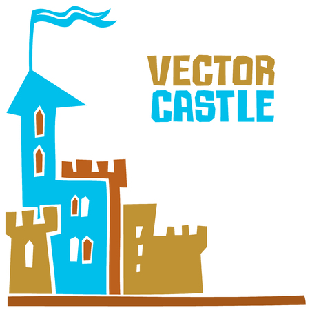 Simple fantastic Tower, Use it for Exterior construction design. Ilustrace