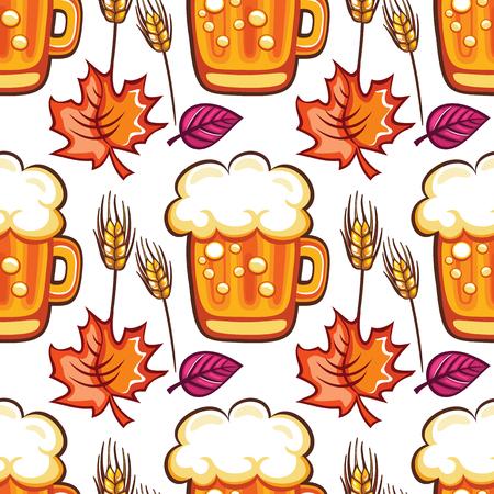 cold: Colorful Oktoberfest pattern. Illustration