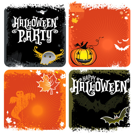 Happy Halloween party lettering