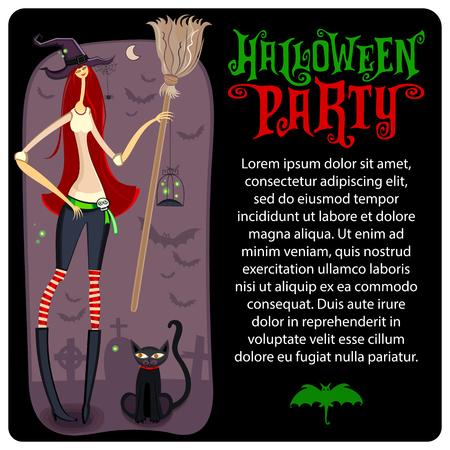 Halloween carte de voeux Banque d'images - 85651131