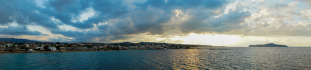 Panorama, sunset on the sea Banco de Imagens