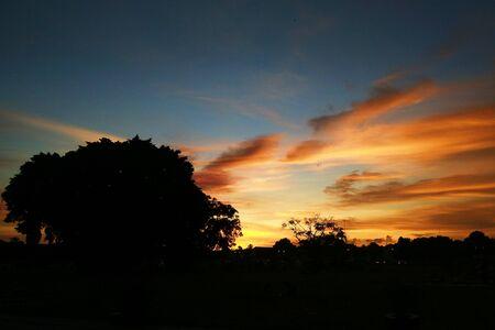 Sunset in Yogyakarta Stock Photo