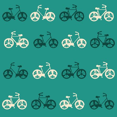 Vector Bicycle weekend illustration, pastel seamless pattern, with wheels.