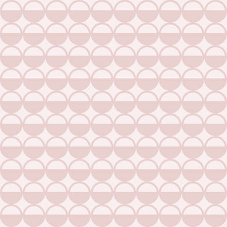 Vector Dusty Pink Dotted graphic seamless pattern Illustration