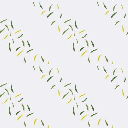 Grey Background with Olive Leaves Repeat Vector Design Illustration