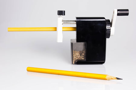 pencil sharpener: Pencil Sharpener Stock Photo