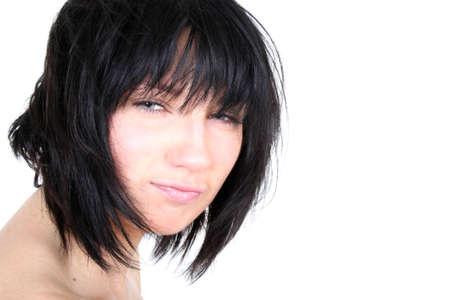 shaggy: brunette with shaggy hair