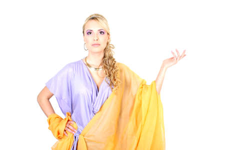 deesse grecque: jeune blonde belle semblable � la d�esse grecque  Banque d'images
