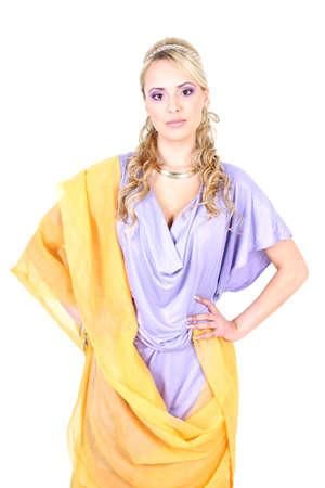 deesse grecque: belle blonde semblable � la d�esse grecque Banque d'images