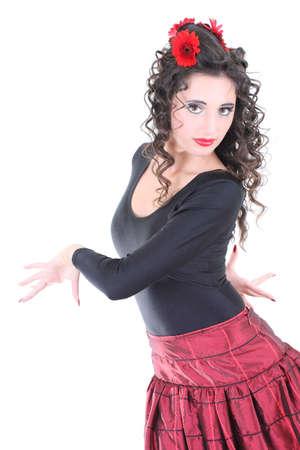 Young spanish woman dancing photo