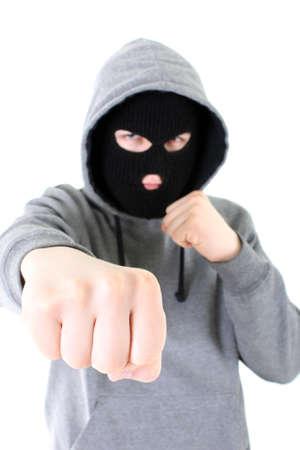 Bandit in black mask Stock Photo - 7666826