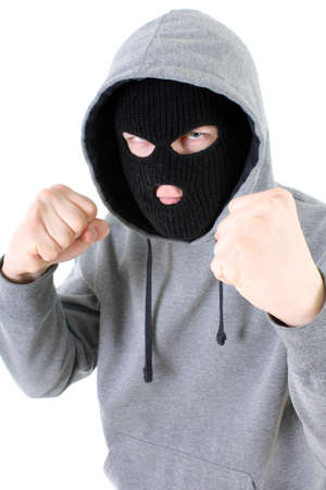 larceny: Bandit in black mask