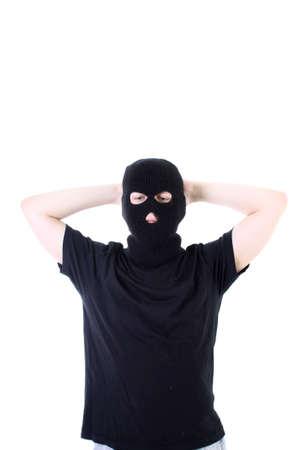 hijacker: The surrendered criminal in black