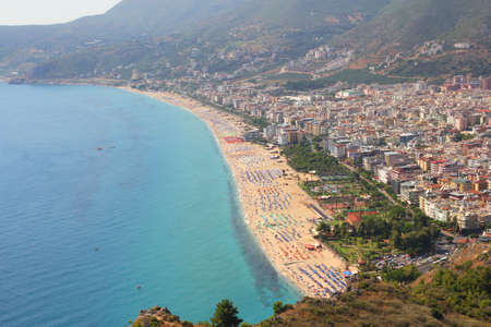 View of the coastline in Alanya photo