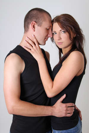 young sexy couple in the studio Stock Photo - 15763715