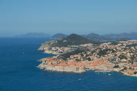 beautiful view of old town in Dubrovnik, Croatia photo