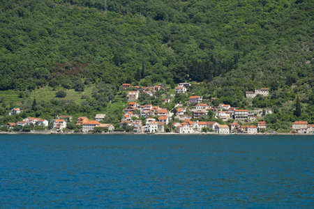 beautiful view of little old town in Montenegro photo