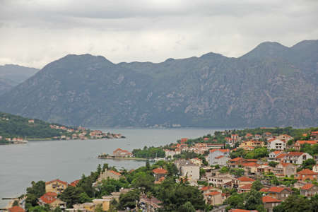 Historic town of Kotor in adriatic sea photo