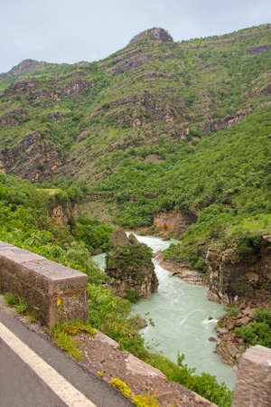 deepest: beautiful canyon of Tara river in Montenegro Stock Photo