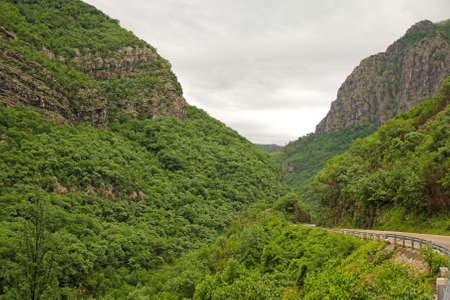 winding canyon road in Montenegro photo