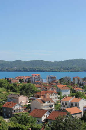 Tivat - small town with red roofs in Montenegro photo