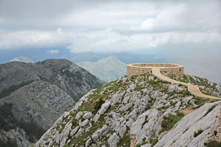 petrovich: viewpoint platform on the Lovcen mountain in montenegro